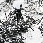Elina Katara | Roots in Black (detail) | ink, gouache, glue, paper