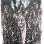 Elina Katara | Behind the mirror | 2020 | watercolour and ink on paper