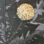 Elina Katara | Late Bloomer (detail) | 2020 | ink and gold leaf on recycled canvas