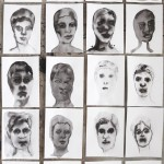 Elina Katara | Inksplotch Self-Portraits | 2013 | ink on paper