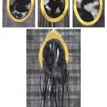 Elina Katara | Holding back I-III & Spillover | 2013 | ink on paper