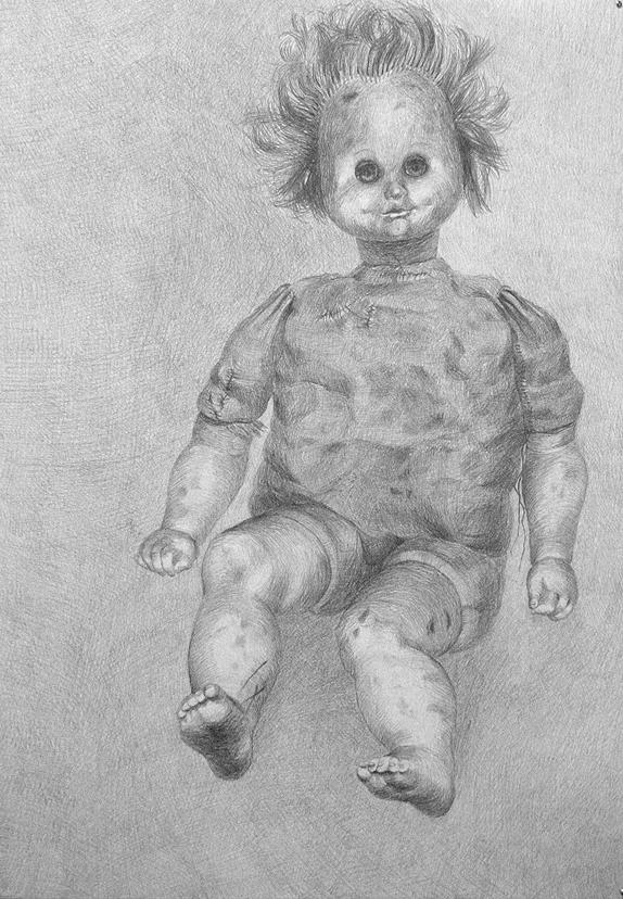 Elina Katara | Portrait of the Beloved | 2007 | pencil on paper