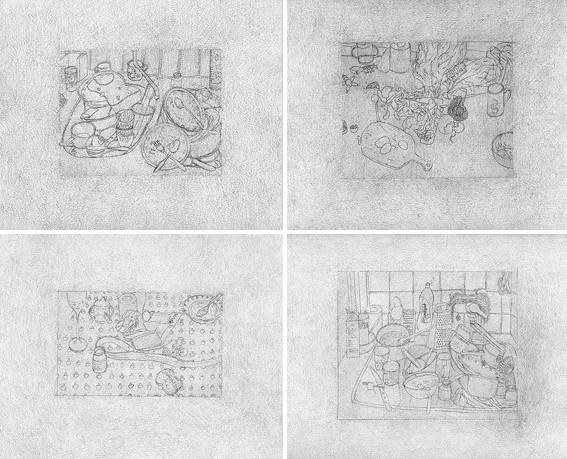Elina Katara | Sunlight series | 2007 | pencil on paper