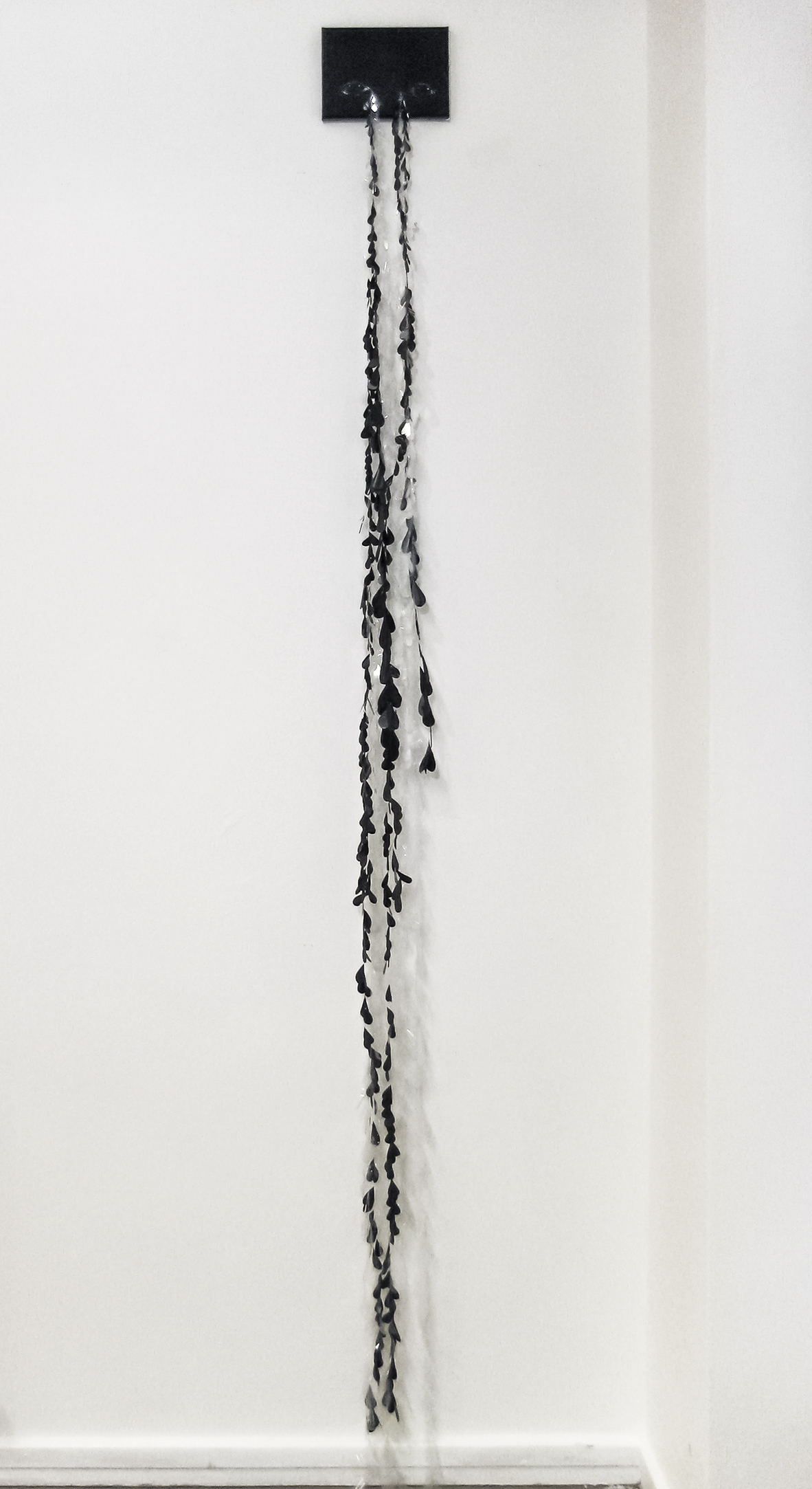 Elina Katara | Crocodile Tears | 2016 | acrylic paint on canvas, tears made out of domestic plastic waste.